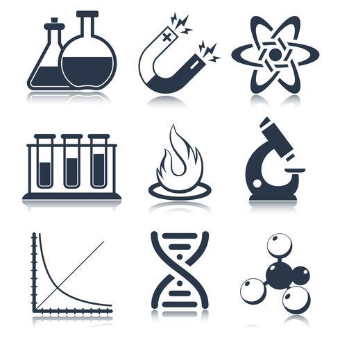 Iconos de la ciencia física vector