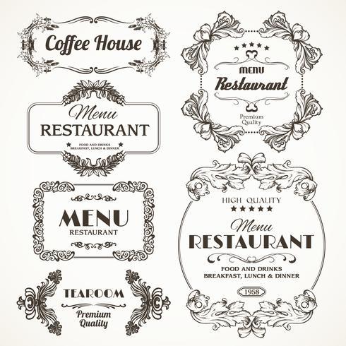 Marcos de restaurante florales