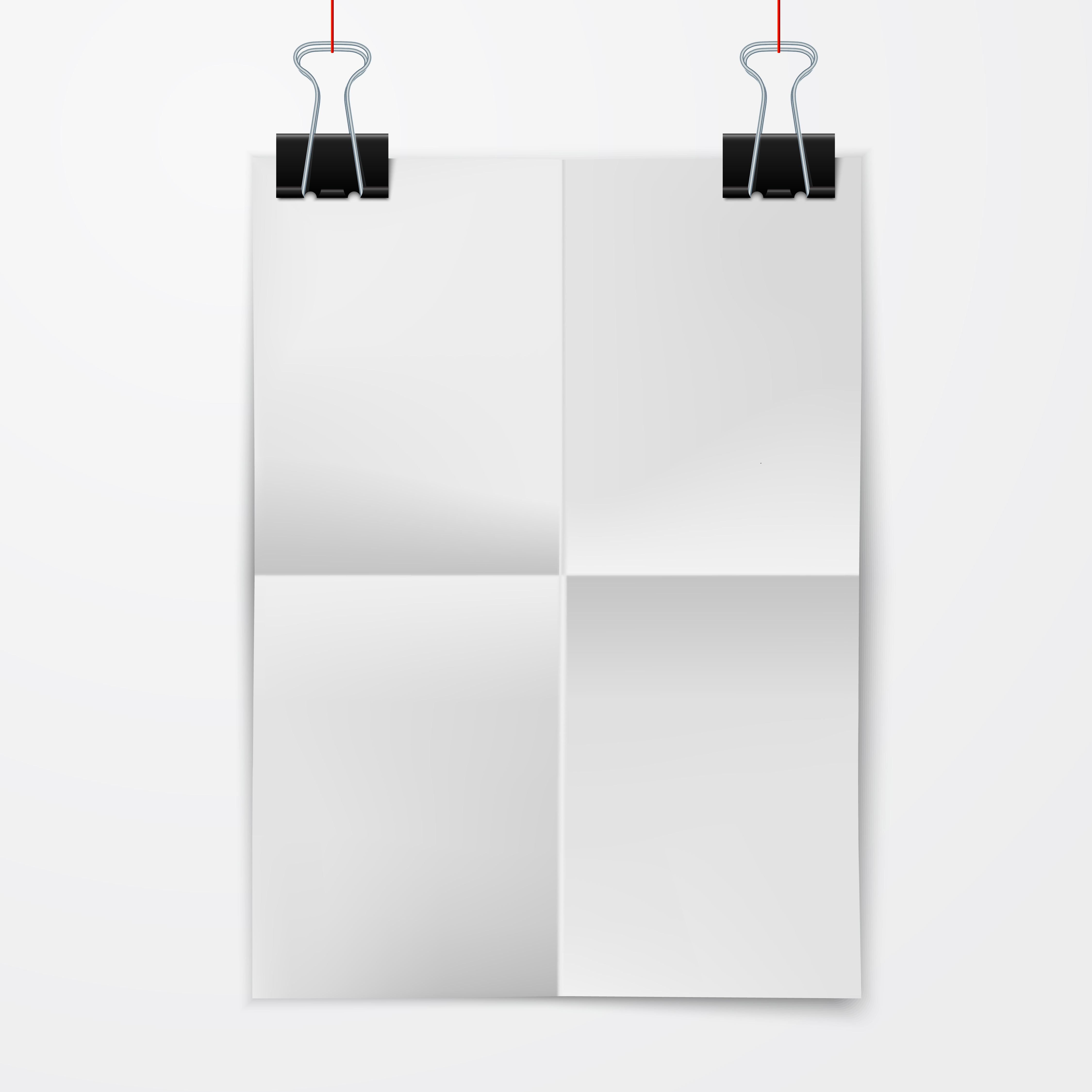 Folded Paper Sheet With Binder Clip