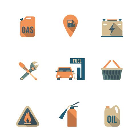 Conjunto de ícones de bomba de combustível