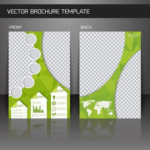 Flyer brochure template vector