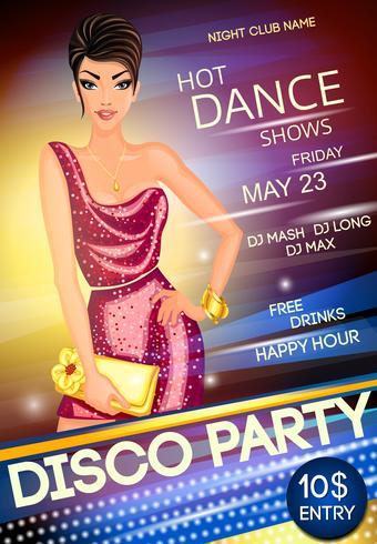 Disco party affisch