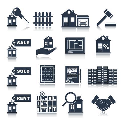 Real Estate Black Icons