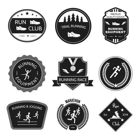 Etiqueta de iconos en ejecución vector