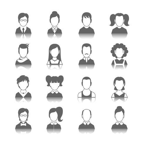 jeu d'icônes d'avatar