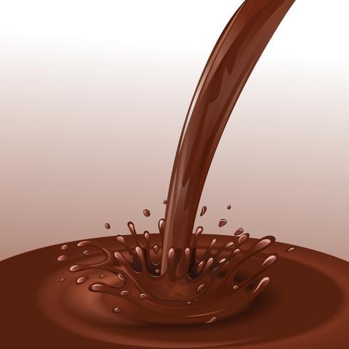 Fondo de flujo de chocolate