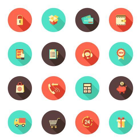Iconos de comercio electrónico de compras