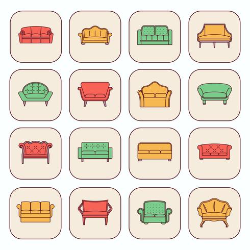 Sofa pictogramserie