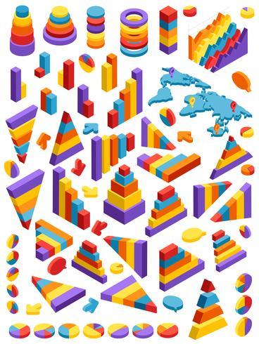 Isometrische Infografik-Elemente