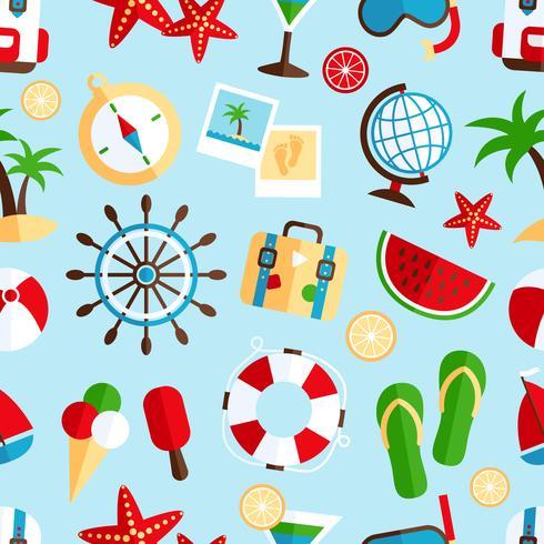 Modèle sans couture de vacances vacances