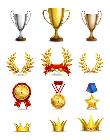 Ranking icons set vector