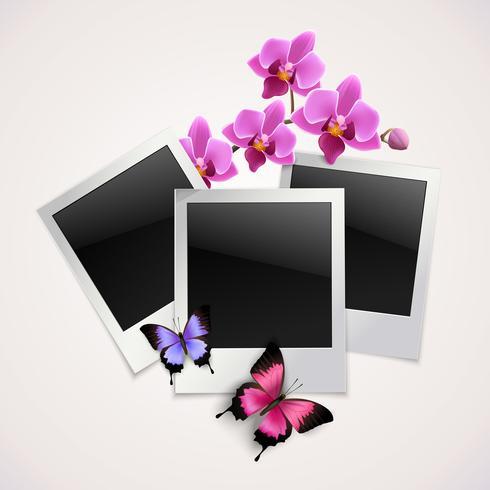 Fjärilar fotoramar