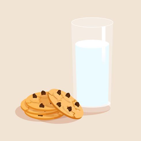 Conjunto decorativo leche y galletas.