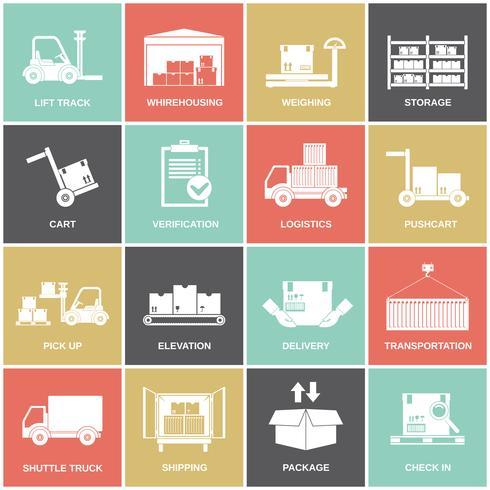 Icone del magazzino piatte