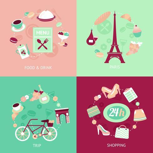 Parijs stad ingesteld