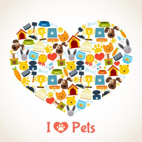Concepto de cuidado de mascotas vector