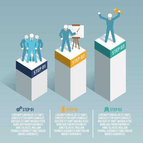 Conjunto de infográfico de liderança