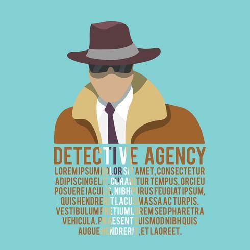manifesto silhouette detective vettore
