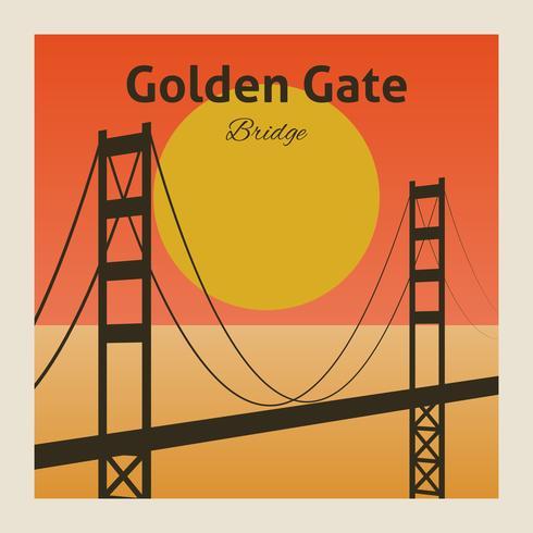 Golden gate bridge-poster vector