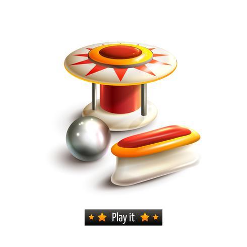 Pinball set geïsoleerd