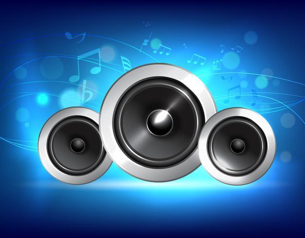 Concepto de música de altavoz de audio vector