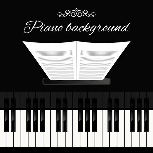 Fondo de teclado de piano vector