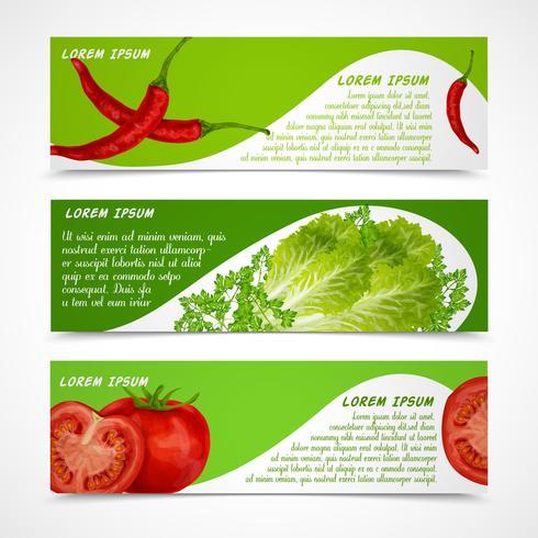 Grönsaker banderoller horisontella