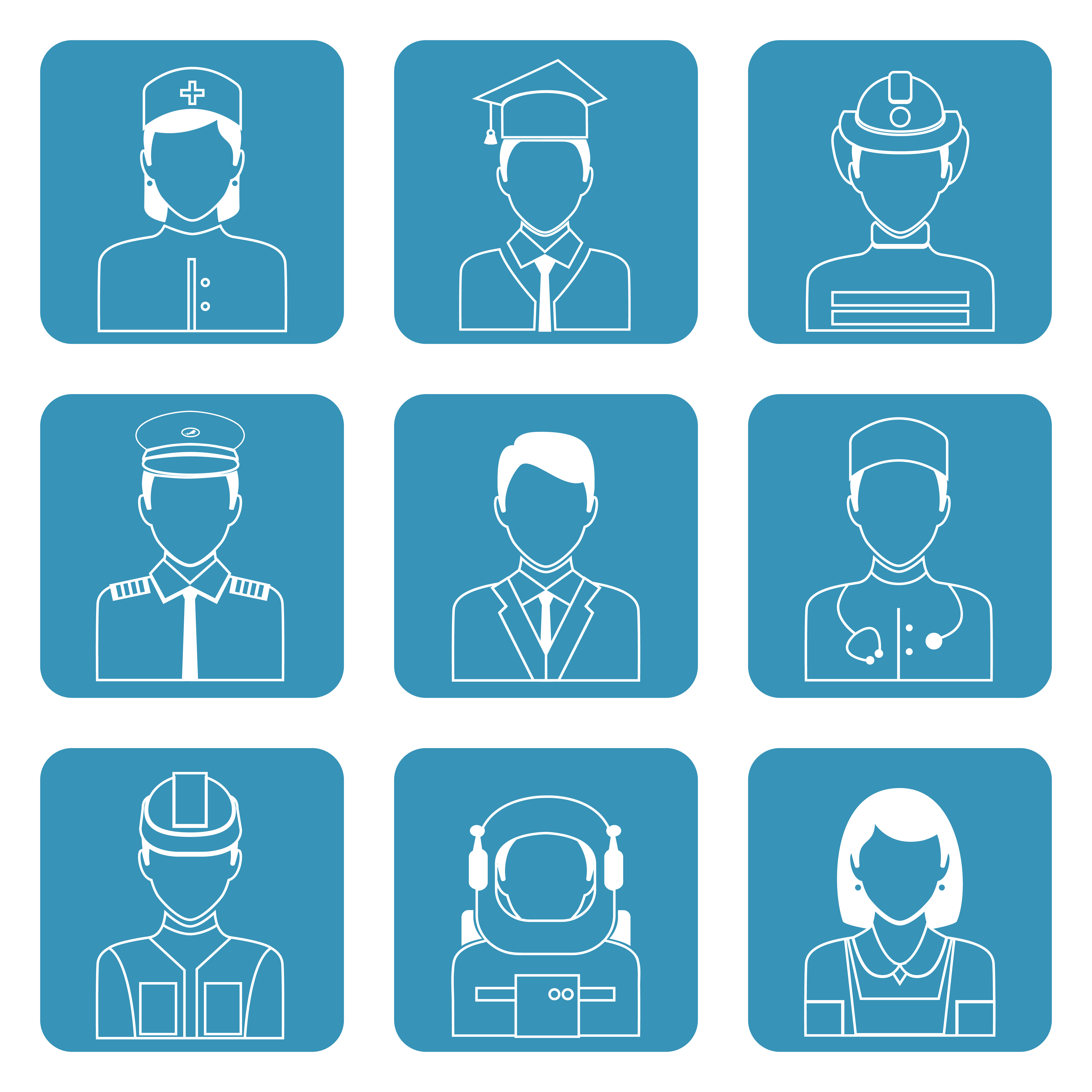 Professional avatar icons set - Download Free Vectors ...