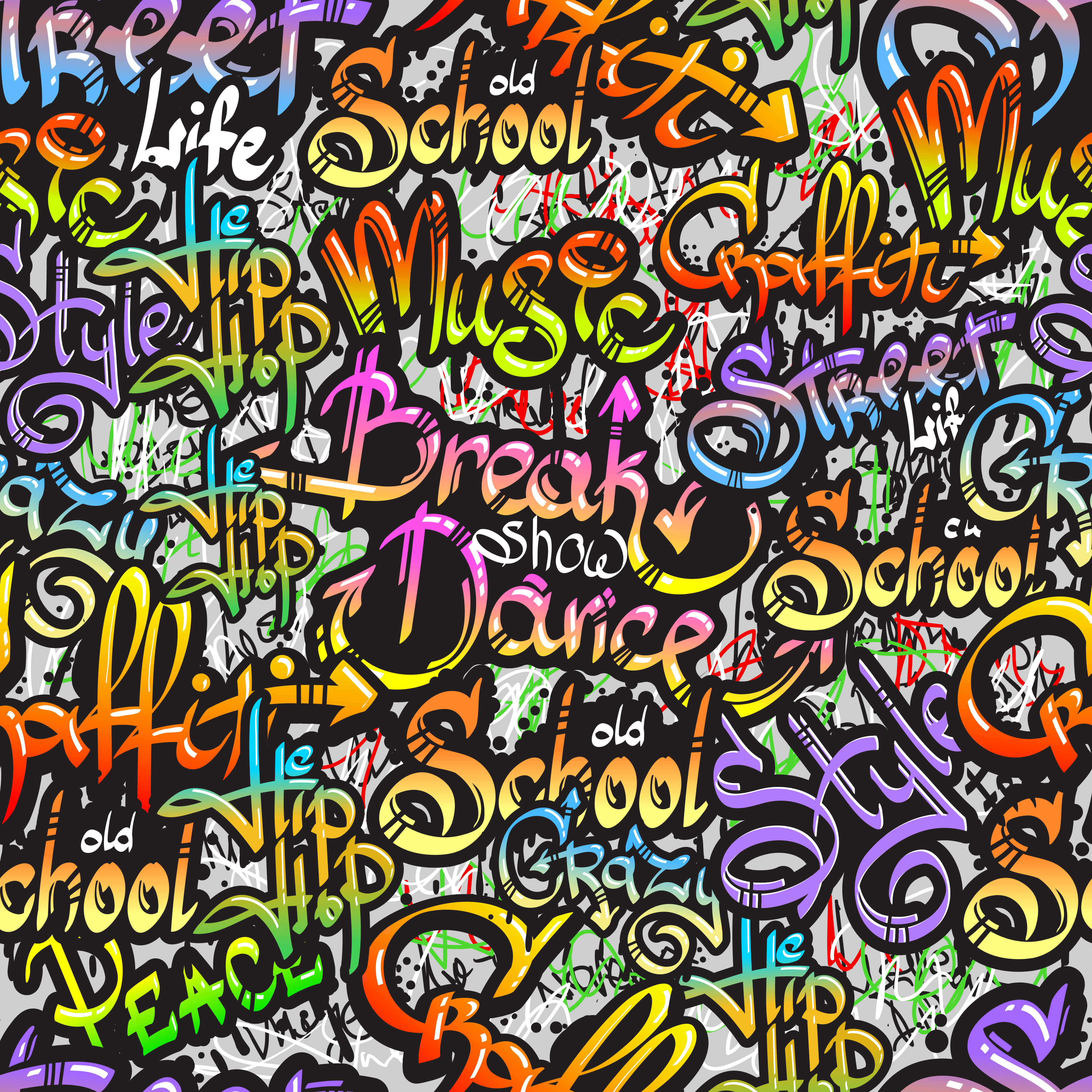 Graffiti word seamless pattern Download Free Vectors Clipart Graphics & Vector Art