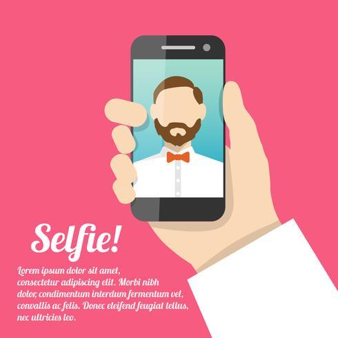 Selfie poster autoportrait