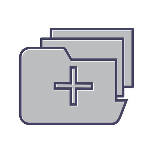Icono de línea de carpeta médica llena vector