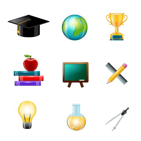 Icono de educación realista