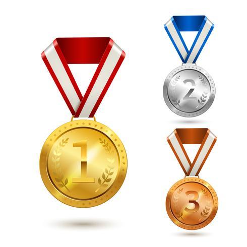 Ensemble de médailles vecteur