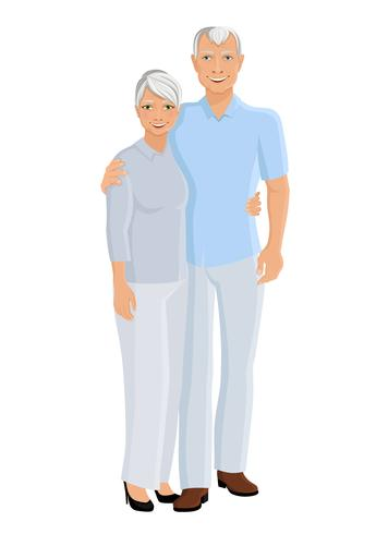 Senior par full längd vektor