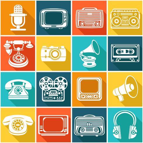 Icônes de médias rétro
