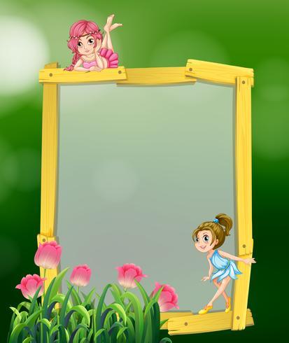 Frame design avec deux fées