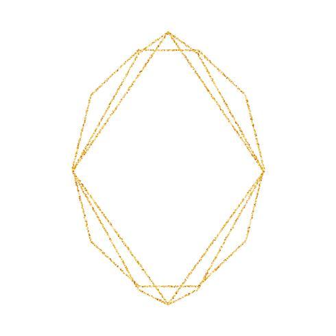 Marco geométrico del oro para el fondo de la invitación de la boda o del cumpleaños. Vector la plantilla del diseño moderno para la tarjeta del folleto, del cartel o del greetina. Arte deco