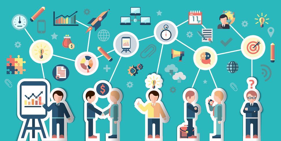 Concepto de gente de negocios vector