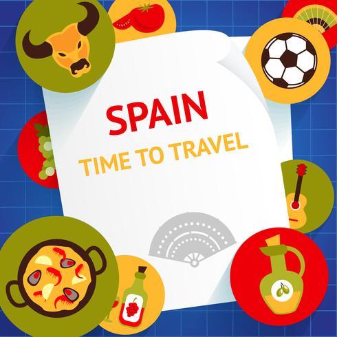 Modèle de fond de l'Espagne