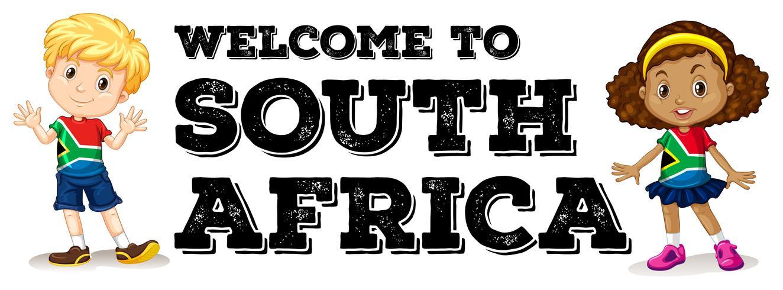 Saluto del ragazzo e della ragazza del Sud Africa