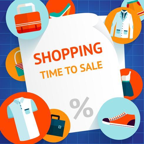 Einkaufskleidungsschablonenhintergrund