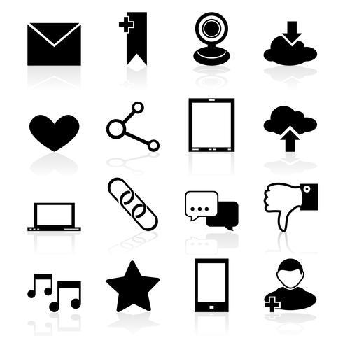 Iconos de redes sociales vector