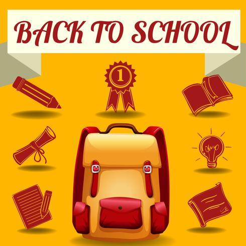 Tema de regreso a la escuela con objetos escolares.