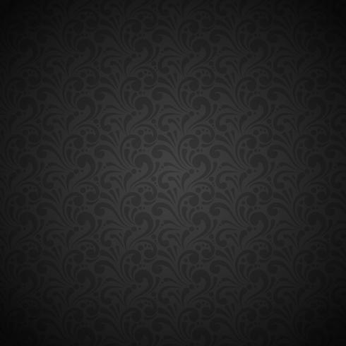 Patrón sin costuras negro vector