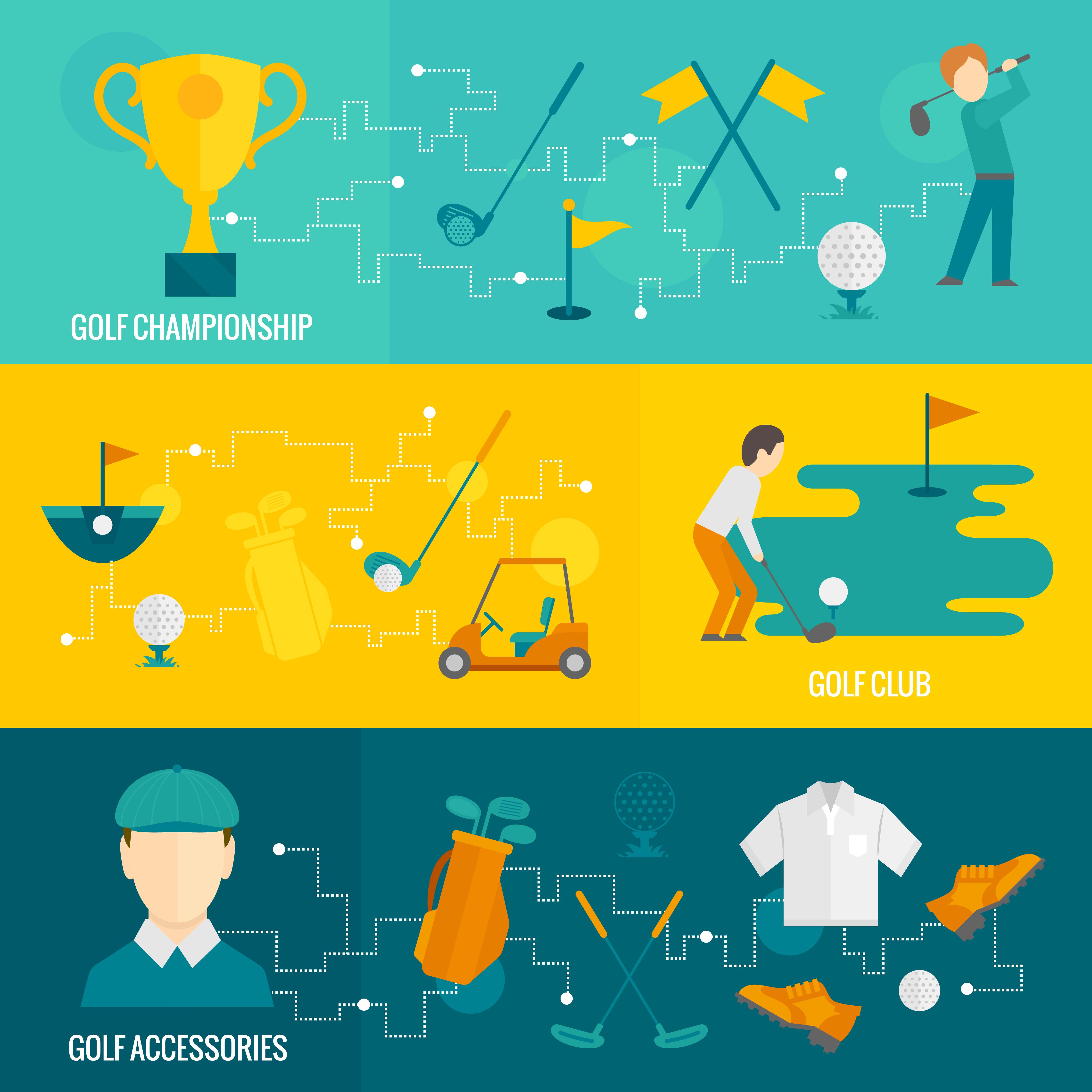 Golf Banners Set Download Free Vectors Clipart Graphics Vector Art