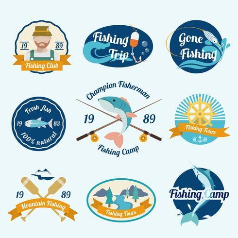 Fishing label set