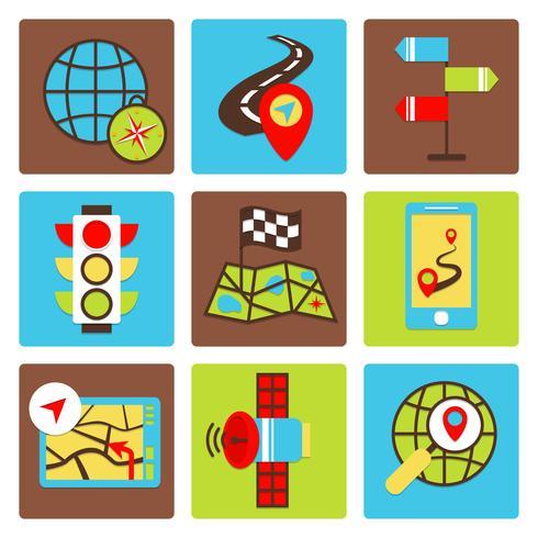 Ícones de navegação móvel