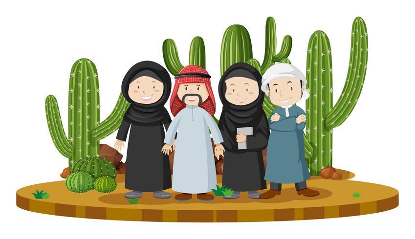 Muslimska människor i öknen land