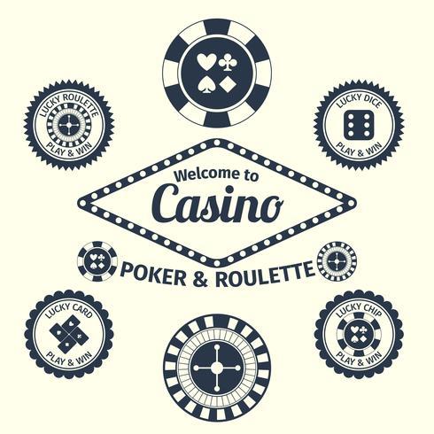 Conjunto de emblemas de casino
