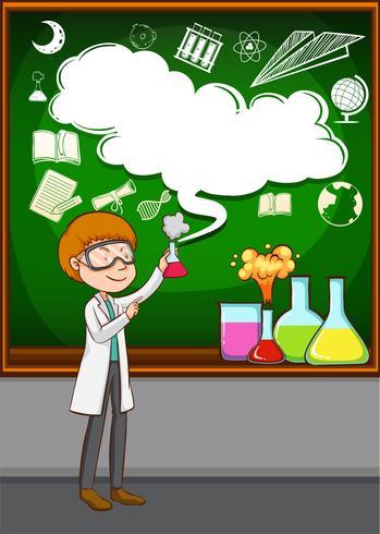 Forskare gör experiment i labbet